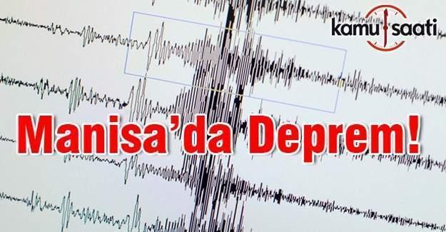 Manisa'da 3.8 büyüklüğünde bir deprem daha