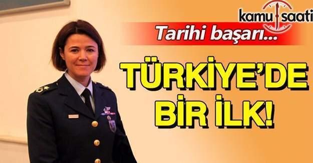 Türk Hava Kuvvetlerine ilk kadın filo komutanı