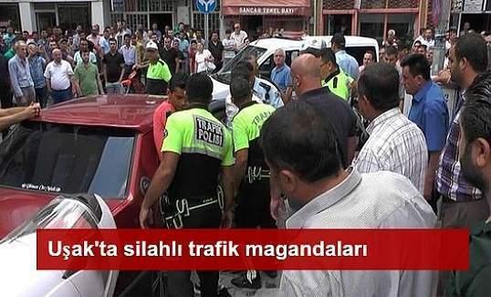 Uşak'ta trafik magandası bir polisi yaralayarak kaçtı