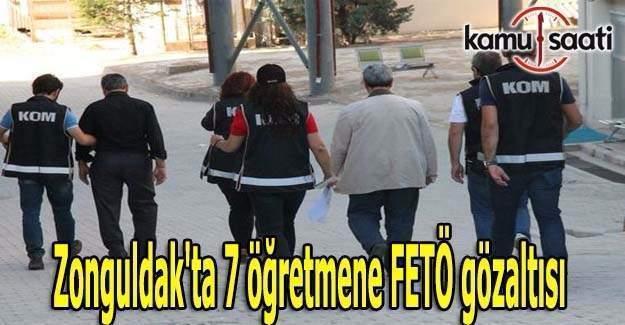 Zonguldak'ta 7 öğretmene FETÖ gözaltısı