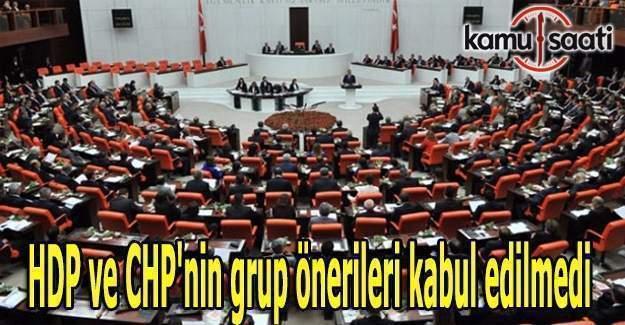 Personel alımlarındaki mülakatlar araştırılsın teklifi Mecliste reddedildi
