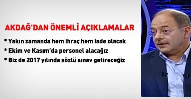 Sağlık Bakanı Recep Akdağ ihraç,iade ve personel alımı hakkında açıklama yaptı