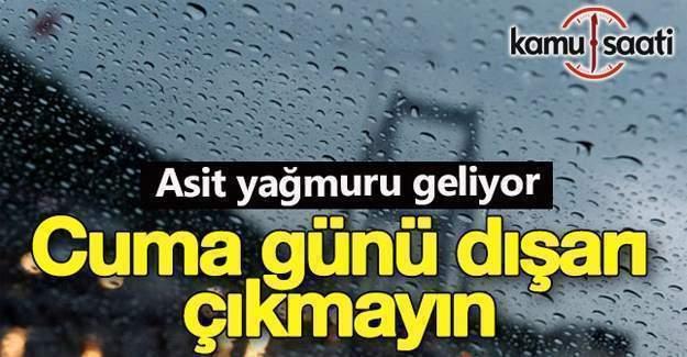 Türkiye'de zehirli gaz ile asit yağmuru tehlikesi