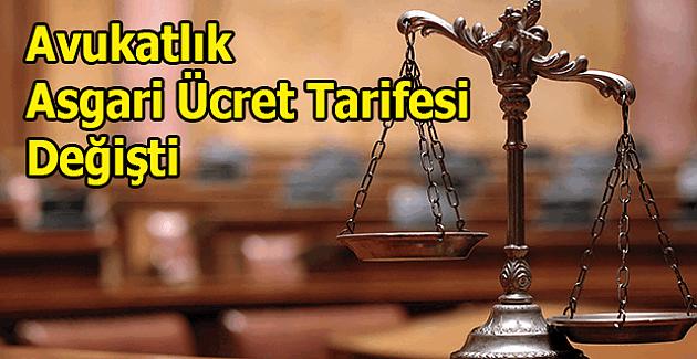 Avukatlık Asgari Ücret Tarifesi Değişti