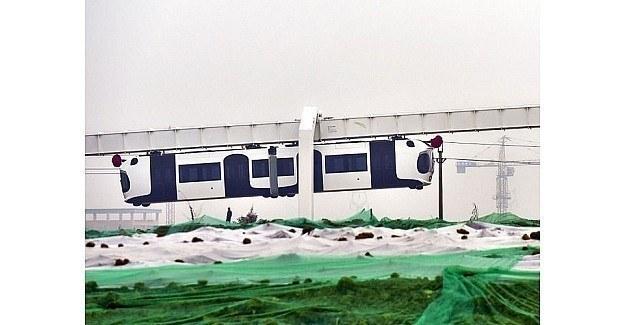 Çin'de hava treni, dünyada ilk...