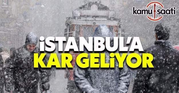 İstanbullular dikkat! Yılın ilk karı geliyor