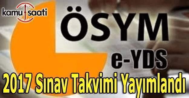 2017 e-YDS Sınav Takvimi yayımlandı