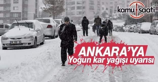 Ankara için yoğun kar yağışı uyarısı