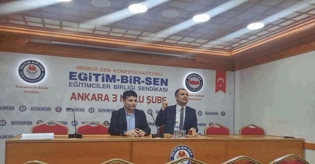 Ankara İl Müdürü Bestami Erkoç, Eğitim Bir-Sen 3 Nolu Şube'de öğretmenlerle buluştu