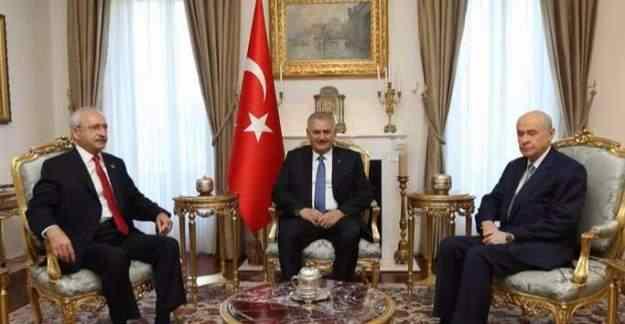 Başbakan Yıldırım, CHP ve MHP'den terör zirvesi