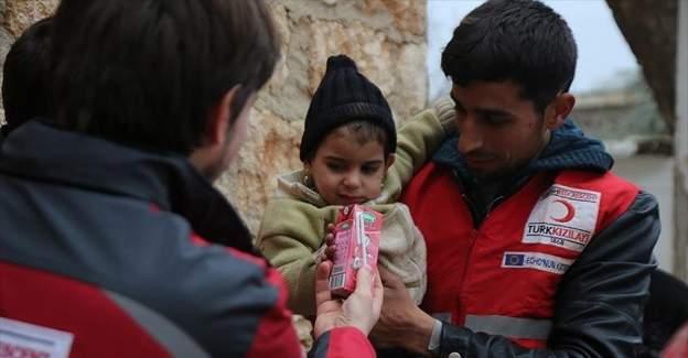Başbakan Yıldırım'ın ailesinden Halepli çocuklara yardım