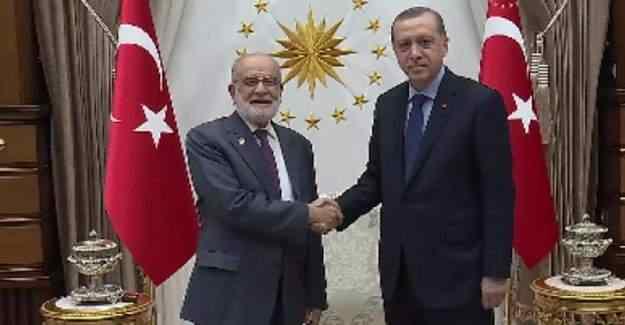 Erdoğan, Saadet Partisi Genel Başkanı Karamollaoğlu'nu kabul etti