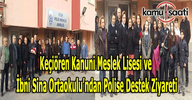 Keçiören Kanuni Meslek Lisesi ve İbni Sina Ortaokulu'ndan polisimize destek