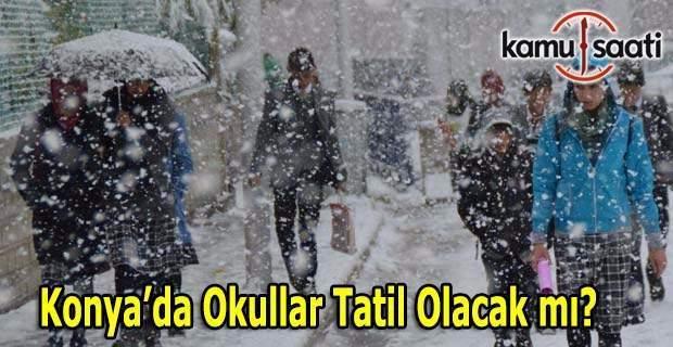 Konya'da yarın okullar tatil mi? 28 Aralık MEB Valilik son dakika açıklaması
