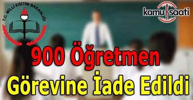 Göreve iade edilen 900 öğretmenin isim listesi