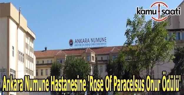 Ankara Numune Hastanesine Rose Of Paracelsus Onur ödülü Kamu Saati