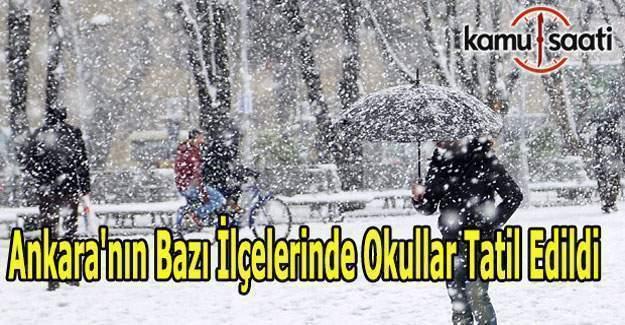 Ankara'nın bazı ilçelerinde okullar tatil edildi - 05 Ocak 2017