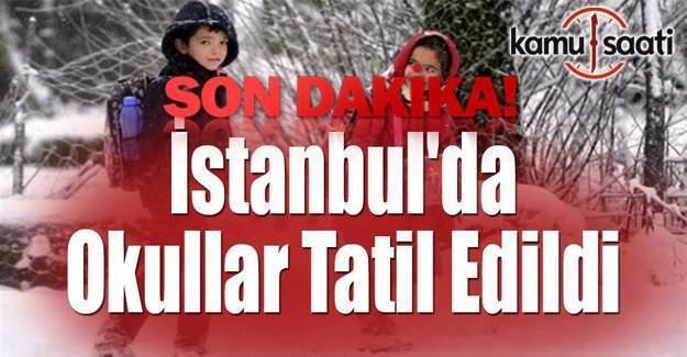 İstanbul'da okullar yarın da tatil edildi- Son dakika Valilik açıklaması