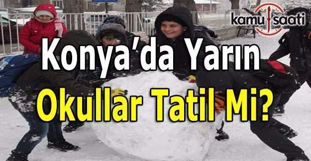 Konya'da yarın okullar tatil mi? 13 Ocak 2017 Cuma