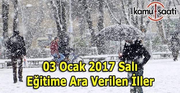 Konya'da  okullar tatil mi? 3 Ocak 2017 valilik kar tatili açıklaması
