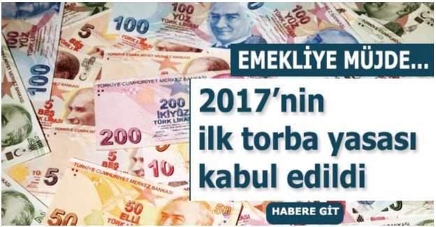 Torba yasayla emekliye 7 bin 500 lira ikramiye