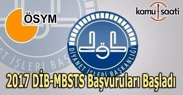 2017 DİB-MBSTS Başvuruları başladı