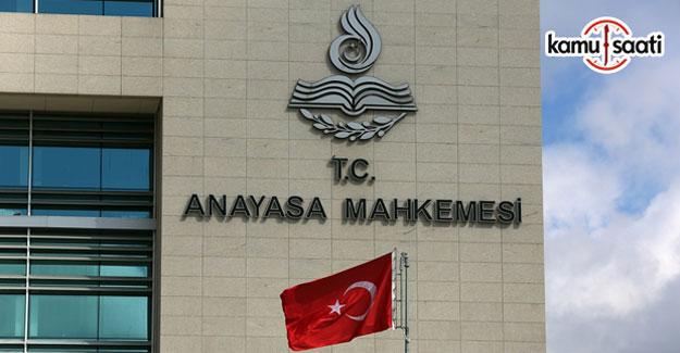 Anayasa Mahkemesinden CHP'nin başvurusuna ret