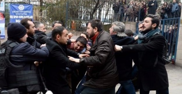 Ankara Üniversitesi'nde gözaltı: CHP'li vekil ve polisler çatıştı