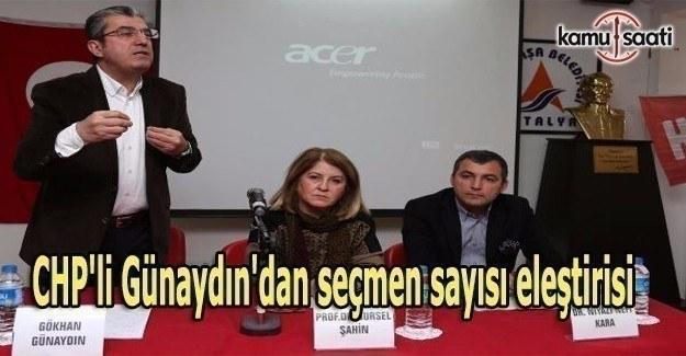 CHP'li Günaydın'dan seçmen sayısı eleştirisi