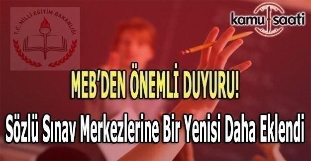 MEB'den öğretmen ataması sözlü sınav (mülakat) duyurusu