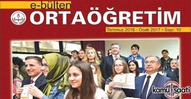 Ortaöğretim E-Bülten 10'ncu sayısı yayımlandı