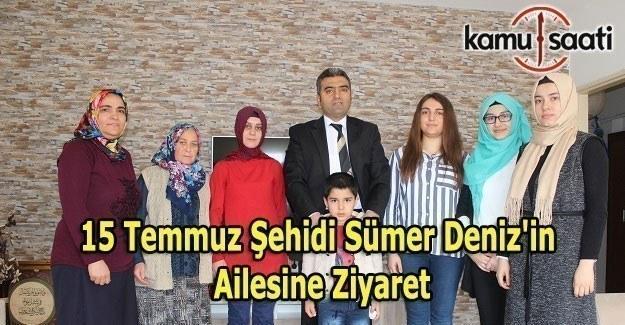 Tapu Kadastro Mesleki Teknik Anadolu Lisesi'nden 15 Temmuz Şehidi Sümer Deniz'in ailesine ziyaret