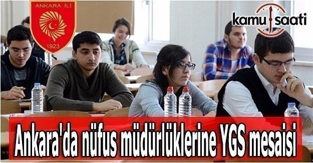 Ankara'da nüfus müdürlüklerine YGS mesaisi