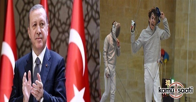 Erdoğan'dan Milli eskrimci Acar'a tebrik
