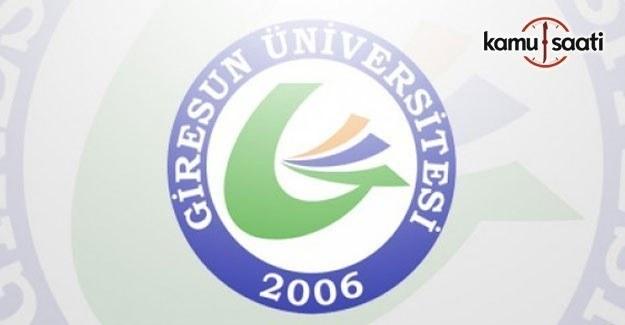 Giresun Üniversitesi Lisansüstü Eğitim-Öğretim ve Sınav Yönetmeliği