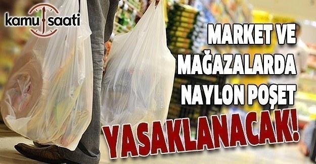 Market ve mağazalarda naylon poşetlere yasak