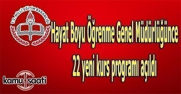 MEB'den, 22 yeni kurs programı