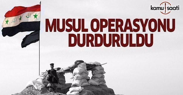 Musul operasyonunda flaş karar