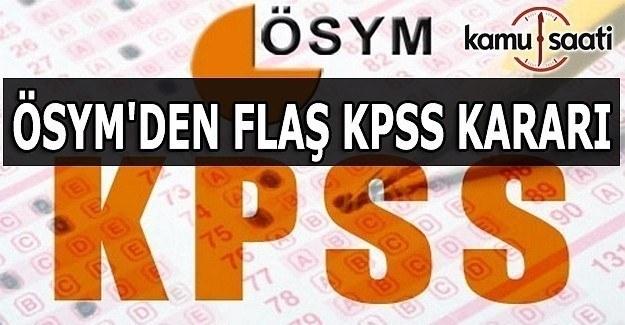 ÖSYM'den flaş KPSS iyileştirme ve ücret duyurusu