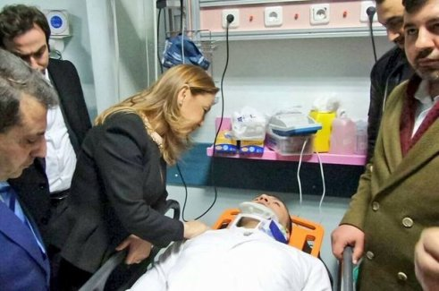 Pütürge Kaymakamı Erkan Savar trafik kazası geçirdi