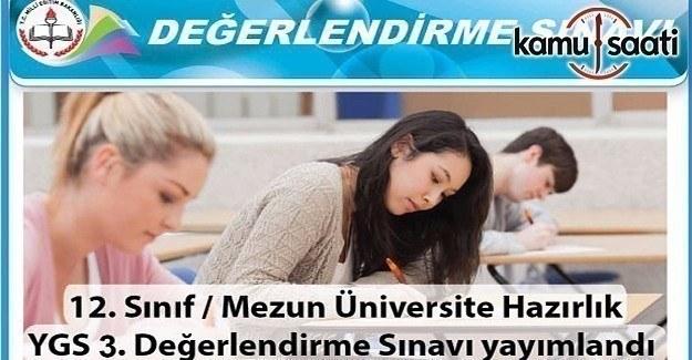Üniversiteye hazırlık YGS 3. değerlendirme sınavı yayımlandı
