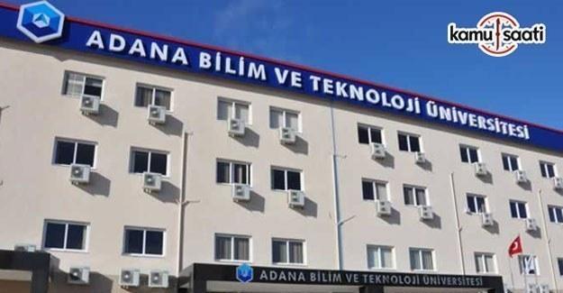 Adana Bilim ve Teknoloji Üniversitesi Ön Lisans ve Lisans Eğitim-Öğretim Yönetmeliği