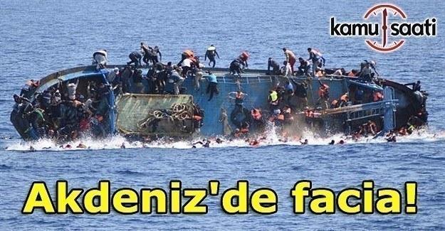 Akdeniz'de 97 göçmeni taşıyan tekne battı