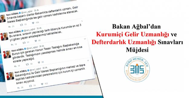 Bakan Ağbal'dan müjdeli haber - Gelir Uzmanlığı ve Defterdarlık Uzmanlığı Sınavları açılıyor
