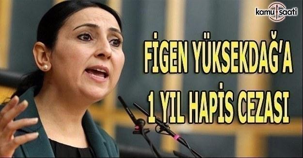 Figen Yüksekdağ'a 1 yıl hapis cezası