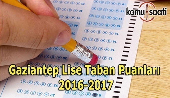 Gaziantep Lise Taban Puanları 2016-2017