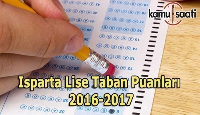Isparta Lise Taban Puanları 2016-2017