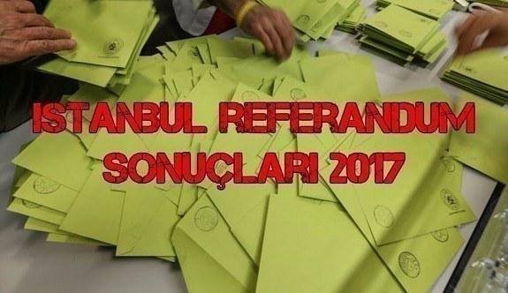 İstanbul referandum sonuçları 2017 - Evet, hayır oy oranları