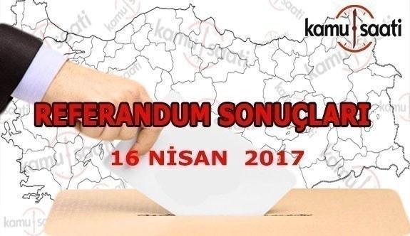 Konya, Karaman, Aksaray ili referandum sonuçları 16 Nisan 2017
