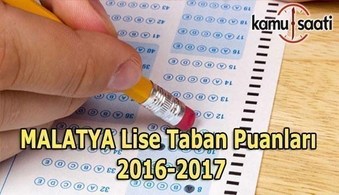 Malatya Lise Taban Puanları 2016-2017